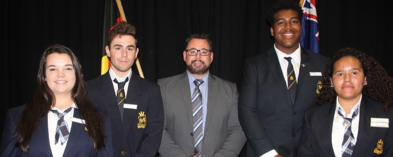 2019 School Leaders Frances Sinclair Captain Stan Hanrahan Vice Captain Phil Rufus Principal Jordan Itoya Captain and Amelia Corcoran Vice Captain